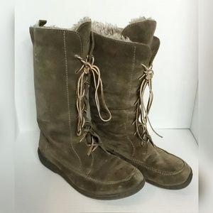 Sam Edelman Suede Lace Boots